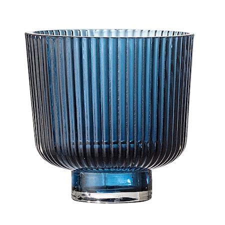 Bloomingville Ljuslykta Blue Glass Ø9x8,5 cm