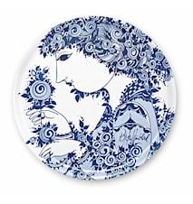 Bricka, Rosamunde, blå, Ø46 cm