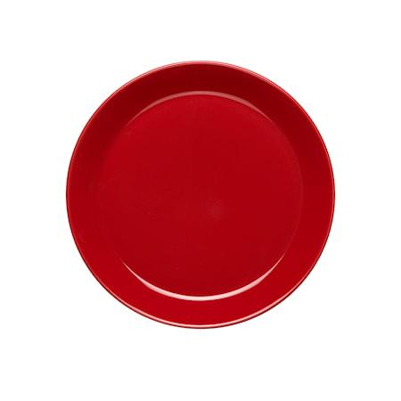 Rörstrand HK Assiett 20 cm med kant äppelröd blank