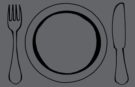Galzone Brikke Tallerken Grå 44x28,5 cm thumbnail