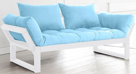 KARUP Edge soffa - vit/ljusblå