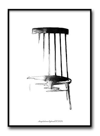 Magdalena Tyboni Design Pinnstolen poster ? 50x70