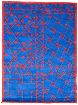 AB E. Stjerna Daaskoe matta ? Blå/röd, 160x230