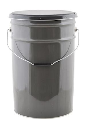 Förvaringspall The bucket Ø 30x46 cm - Mörkgrå