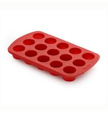 Pralinform cylinder röd