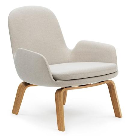 Normann Copenhagen Era Lounge Chair Low Oak Vit Tyg