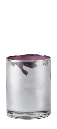 KJ Collection Ljuslykta Glas/Bordeaux 8x10 cm