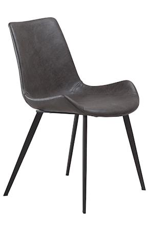 Dan Form Denmark Stol Hype Konstläder - Vintage Grå