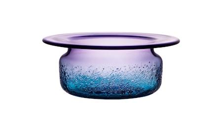 Kosta Boda Aurora sininen/violetti kulho 28 cm