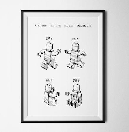 Bilde av Konstgaraget Patent lego white poster
