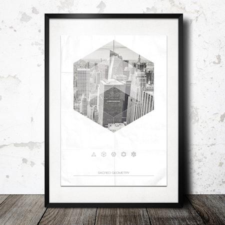 Bilde av Konstgaraget City Geometry poster