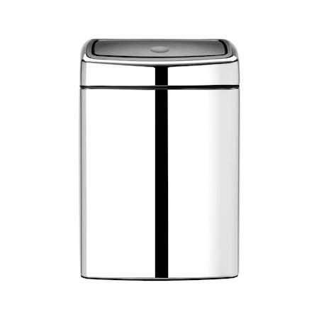 Brabantia Touch Bin Rektangulär plastinnerhink 10 L Blankborstat Stål