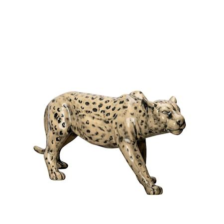 Prydnad Leopard Beige/Svart