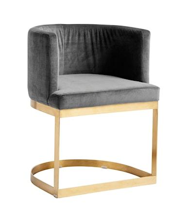 Lounge matbordsstol i sammet Blå