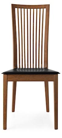 Calligaris Philadelphia stol – Valnöt svart läder