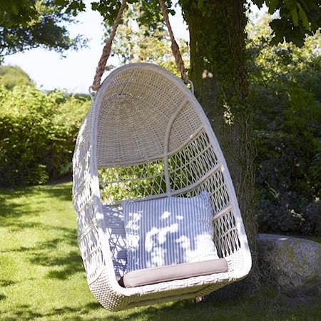 Sika Design Evelyn hängstol - Vintage white, grå dyna