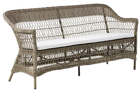 Sika Design Charlot 3-sits soffa - Antique, inkl vit dyna