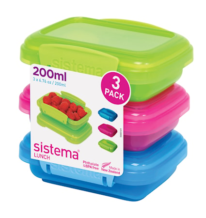 Sistema Lunch 2016 200ml 3 pack Coloured