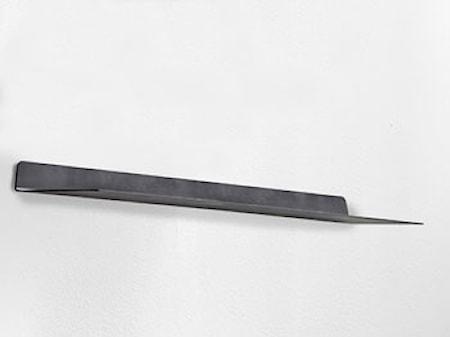 Vägghylla 80x18x4 cm Svart Metall