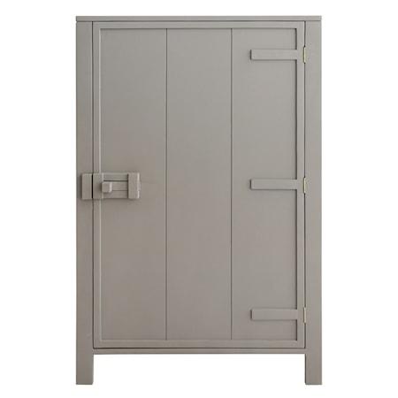 Skåp med en dörr Grå/Beige 81x122 cm
