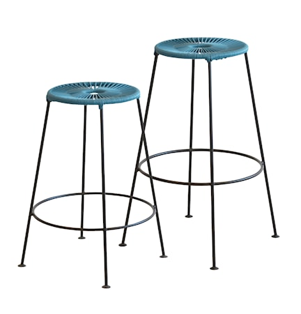 OK Design Acapulco bar stool H75 – Petroliumblå
