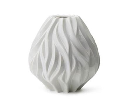 Vase Flame 23 cm hvid Morsø