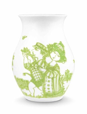 Bilde av Björn Wiinblad Vase, Rosegarden, grønn, H 18 cm
