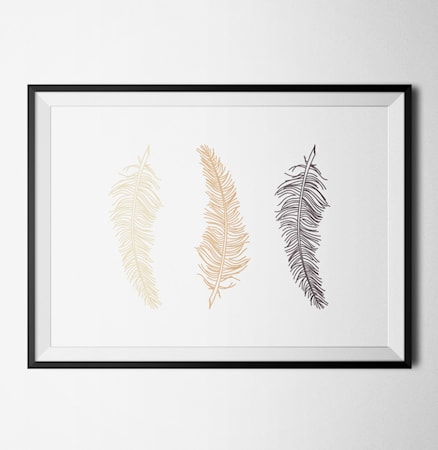 Bilde av Konstgaraget Three feathers 1 poster