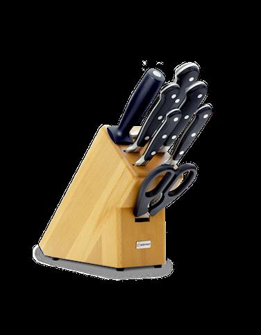 Classic Knivset med block 7 delar