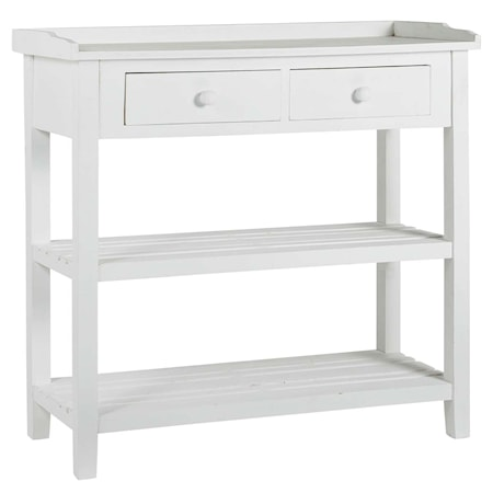 Ib Laursen Console 2 drawers and 2 shelves byrå