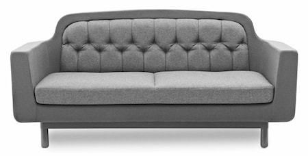 Normann Copenhagen Onkel sofa 2 sits - ljusgrå