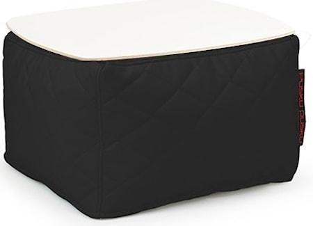 Pusku Pusku Soft table 60 quilted outside sidobord - Black
