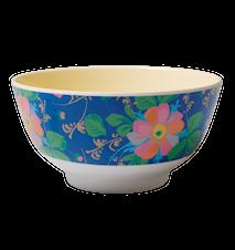 Melaminskål Blå Blommig
