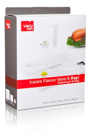Vacuvin Instant Flavour Valve & 2 pussia