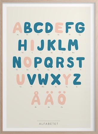 Bilde av Alfabetet Poster 30x40 cm