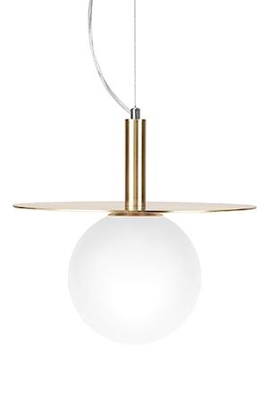 Globen Lighting Kattolamppu Art Deco Harjattu Messinki