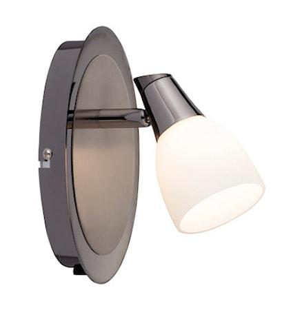 Bilde av Markslöjd Halden Vegglampe 1 Lys Svart/Krom