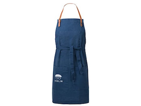 Förkläde 80x90 cm Washed blå