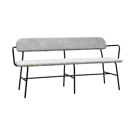 Classico Bänk Ljusgrå 160 cm