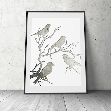 Bilde av Konstgaraget Birds in tree poster