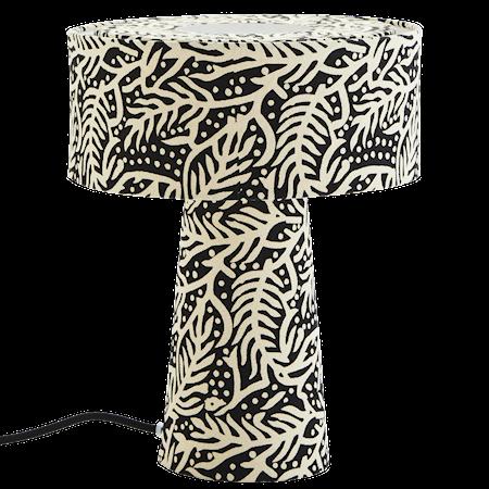 Bordslampa Print Vit/Svart