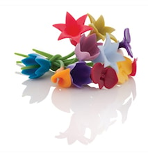Wine charms- Glasmarkörer 12 st Blommor