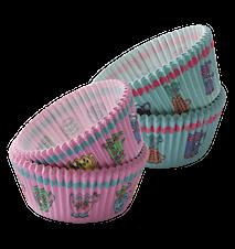 Cupcakeformar med tryck, osorterade färger 60 st