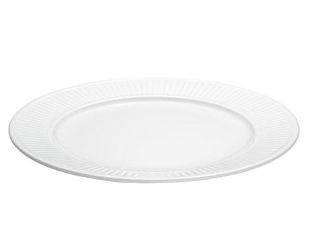 Plissé tallrik flat vit, Ø 28 cm