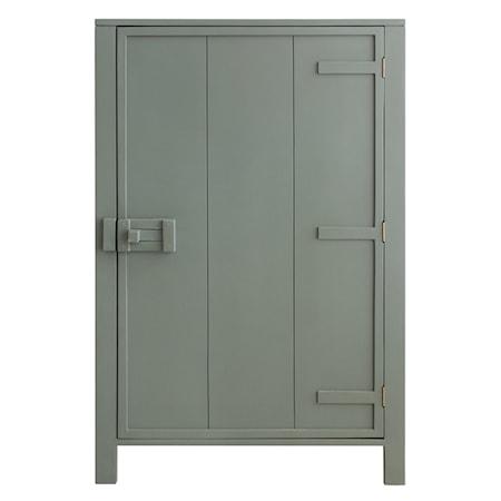 Skåp med en dörr Militärgrön 81x122 cm