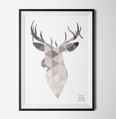 Bilde av Konstgaraget Nordic deer light poster