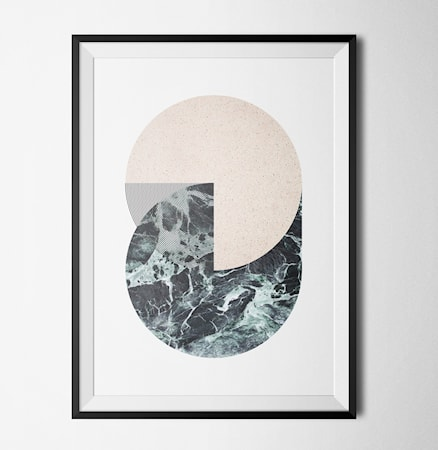 Bilde av Konstgaraget Level of marble circles poster