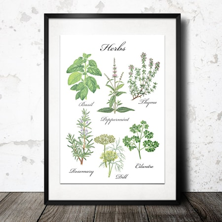 Bilde av Konstgaraget Herb hvit poster