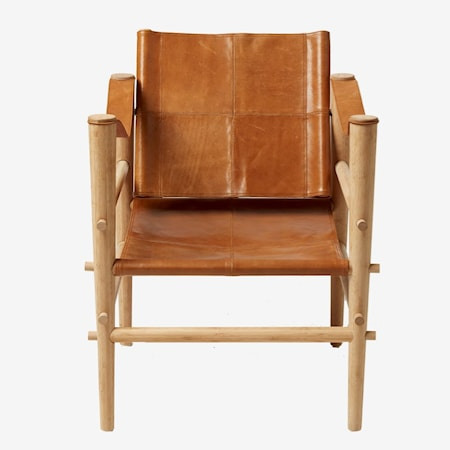 Cinas Noble leather loungestol - Ljusbrun