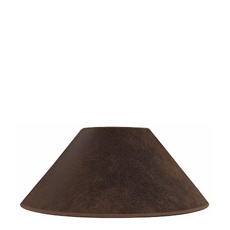 Lampskärm Flat Low Mocka Brun
